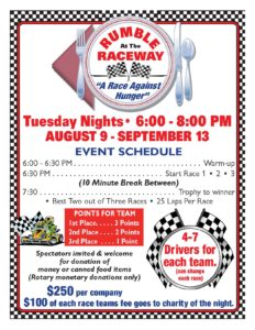 Rumble at the Raceway-Schedule